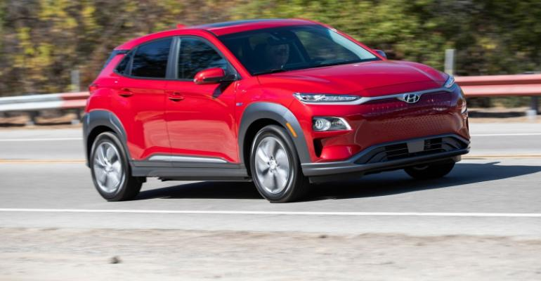 2019 Hyundai Kona EV red