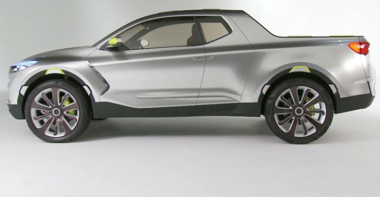 Hyundai Santa Cruz concept pickup profile