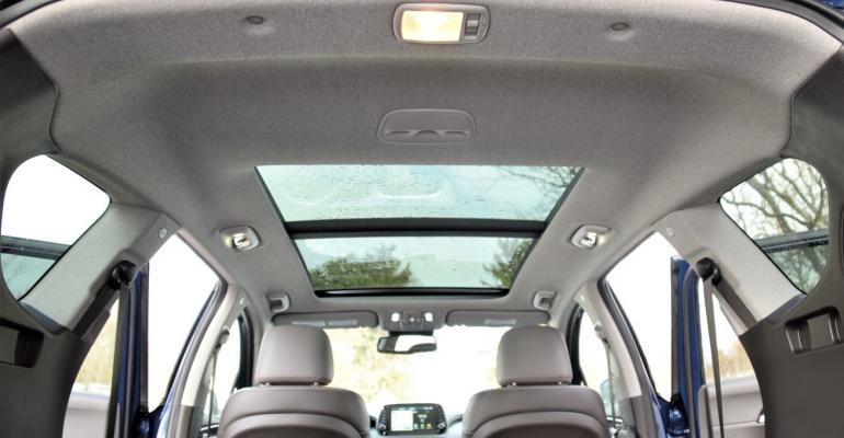 Hyundai Santa Fe tweed headliner