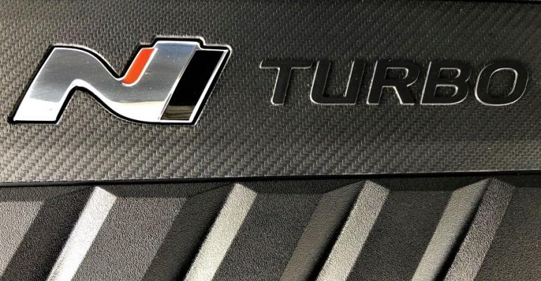 2019 Hyundai Veloster N engine beauty cover
