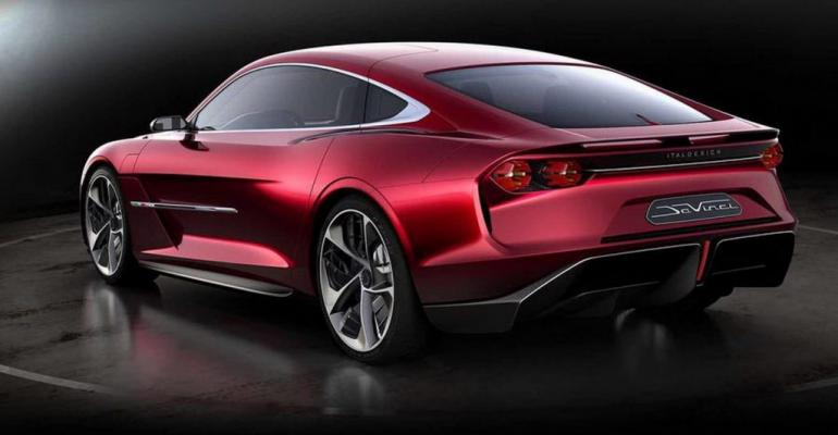 DaVinci show car accommodates electrification.