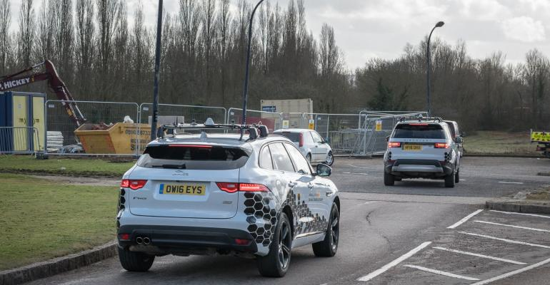 Jaguar Land Rover testing connectivity on U.K. public roads.