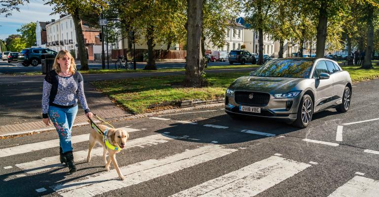 UK charity Guide Dogs for the Blind helped test I-Pace's audible alert system.