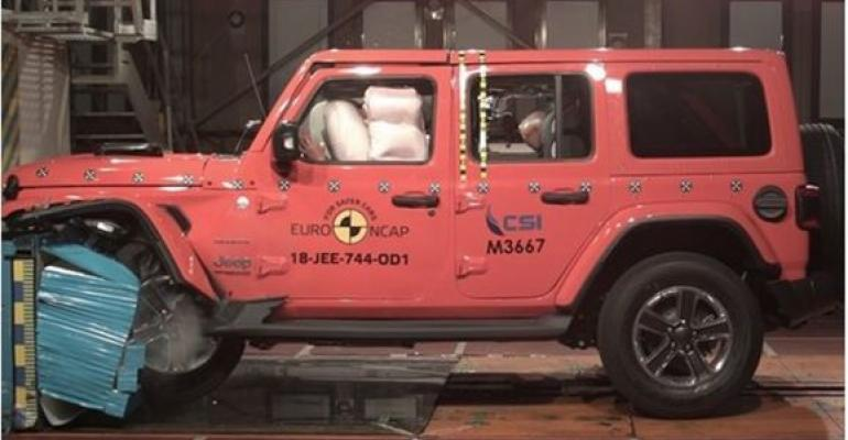 All-new Jeep Wrangler gets one of possible five stars in European safety tests.