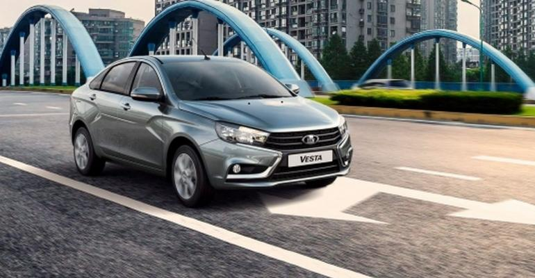 Lada Vesta tops Russian sales in 2018 with 108,364 deliveries.