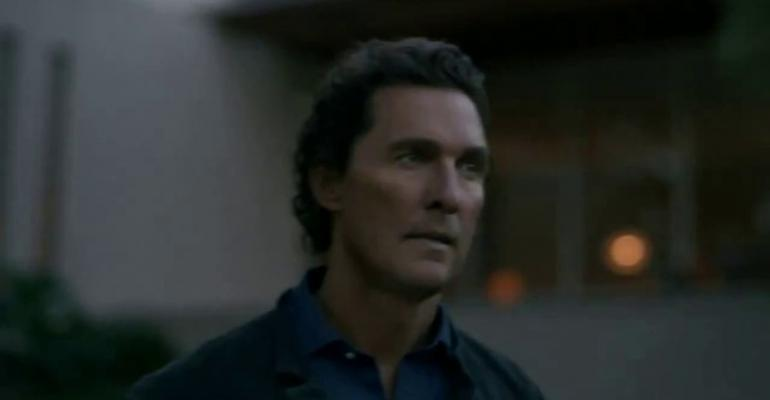 Actor McConaughey headlines top-ranked ad for Lincoln Nautilus SUV.