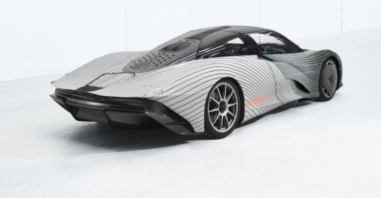 McLaren's Speedtail hybrid, new Ultimate Series flagship, begins yearlong global test regime.