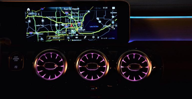 Mercedes A220 ambient vents