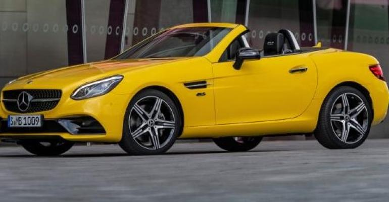 SLC's optional yellow paint featured on original SLK launched in 1996.