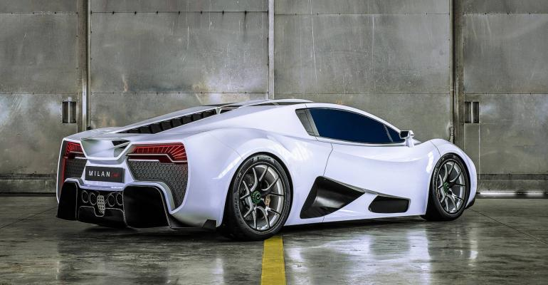 Milan Red billed as Austria's first hypercar.