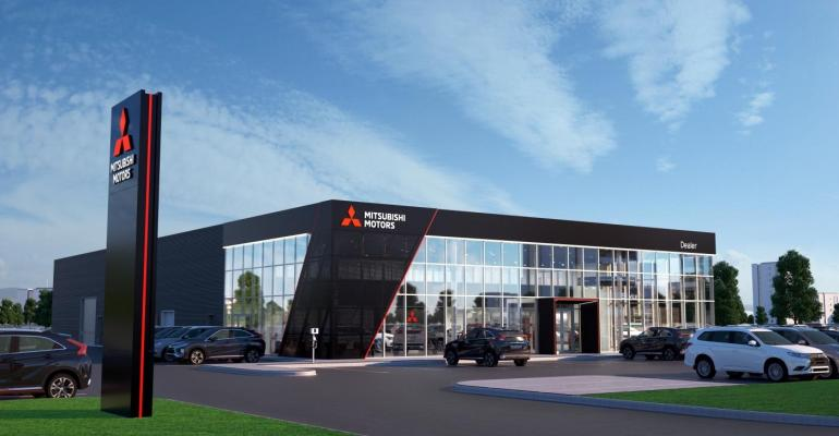 Mitsubishi introduces new design to global dealerships.