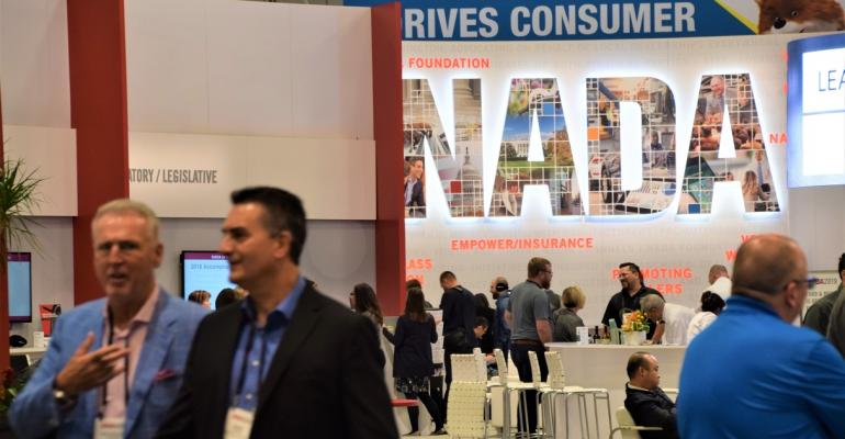 NADA banner on show floor