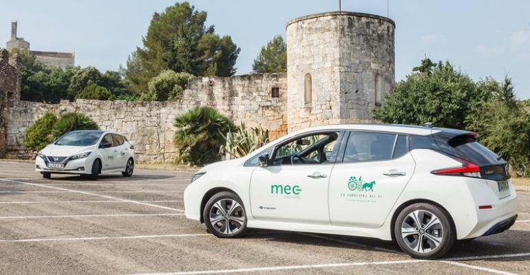 Nissan Leaf leads EV sales in Spanish market.