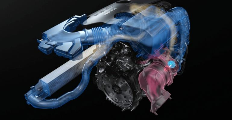Nissan VC-Turbo engine continuously adjusts its compression ratio to optimize power and efficiency.
