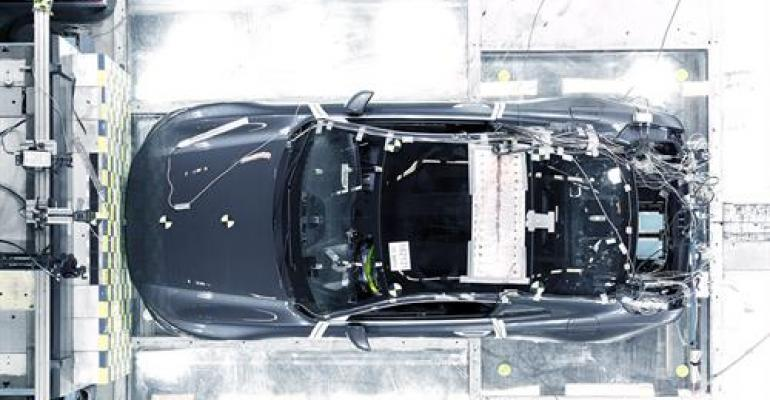 Crash tests show using carbon fiber in body was right call, Volvo says.