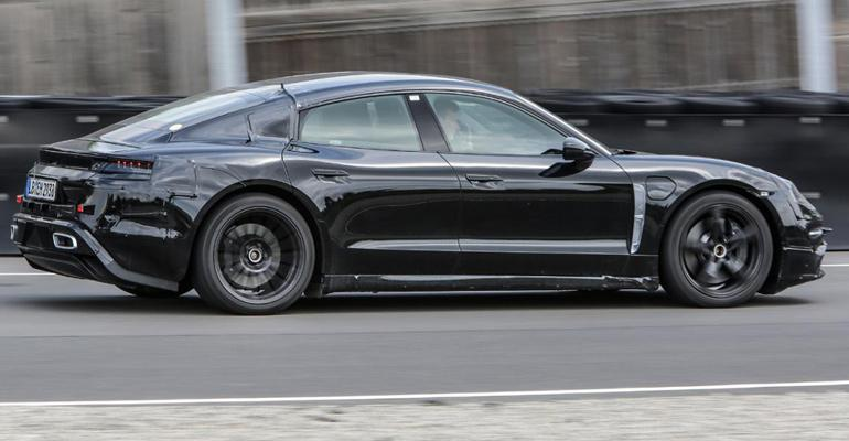 Porsche claims Taycan has 310-mile range, takes 80% battery charge in 15 minutes.