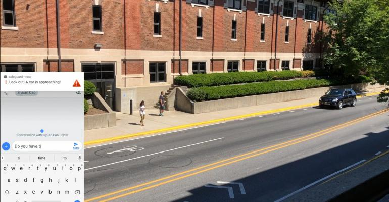 Purdue researchers' system alerts pedestrians of oncoming traffic via smartphone.
