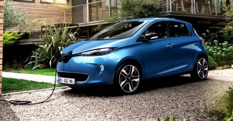 Renault Zoe Europe's best-selling EV in 2017.