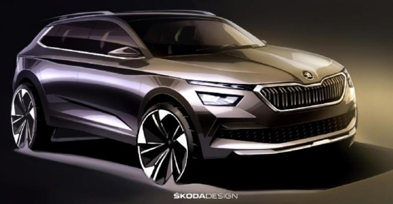 Skoda says new headlamps articulate brand's design language.