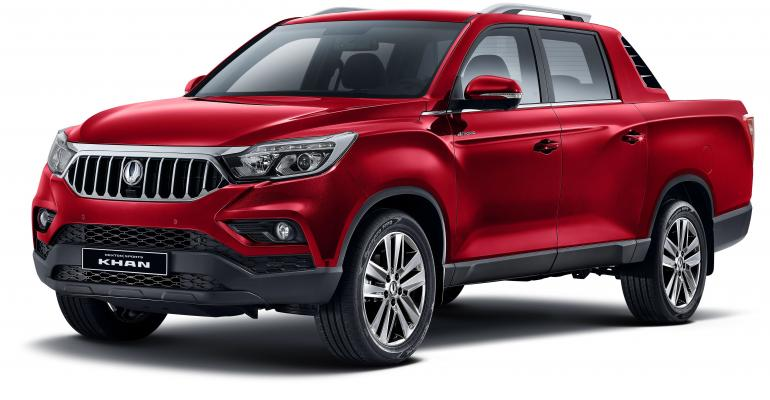 SsangYong launches long-wheelbase Musso as Khan in Korean home market.