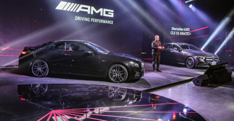 Sales and marketing VP Steinacher introduces Toyota Thailand's AMG lineup.