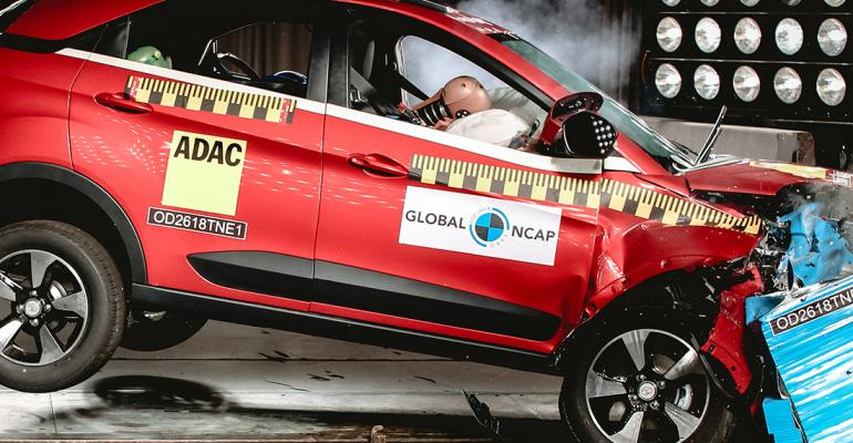 Tata improved safety features after Nexon received four stars earlier in year.