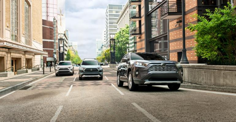 RAV4, other models in TNGA-K subset share same-sized engine compartment.