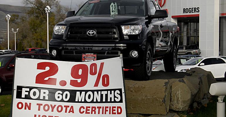 Toyota pickup on dealer lot (Getty).jpg