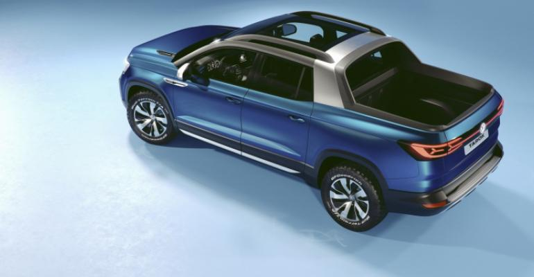 Vw Tests U S Waters With Tarok Pickup Concept Wardsauto