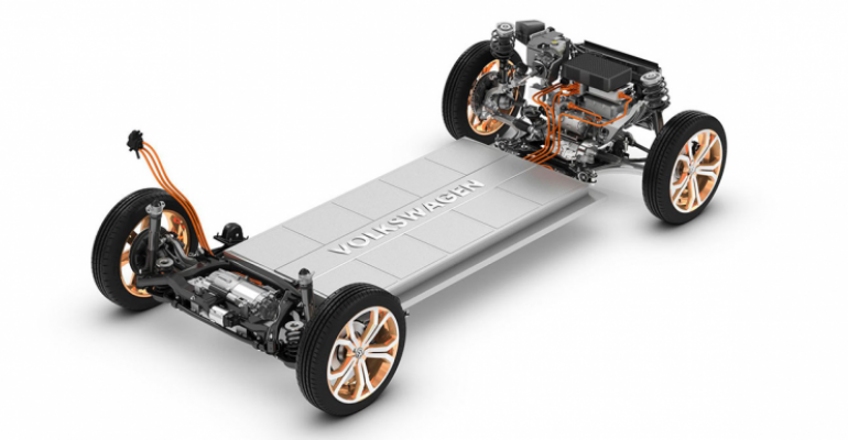 China plant to produce EVs using Volkswagen's MEB platform.