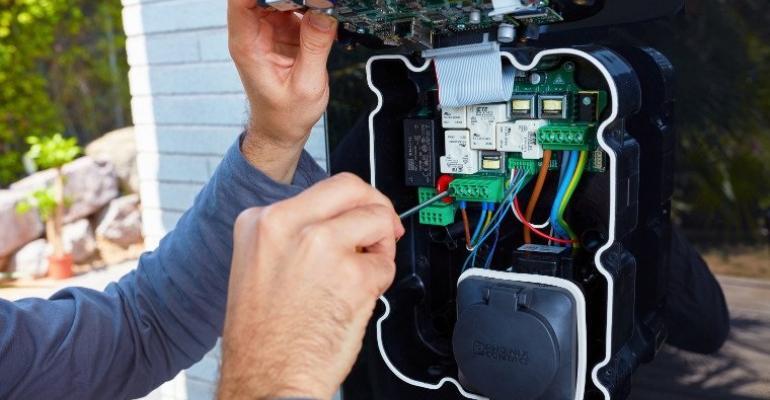 "Manufacturer touts latest EV chargers' ""new design language."""