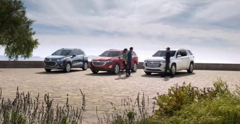 Top-ranked Chevrolet ad matches three models with three life stages.