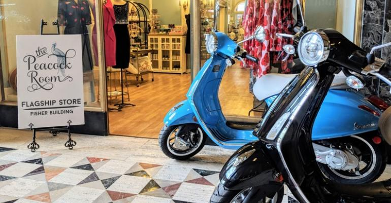 Detroit Vespa pop-up store