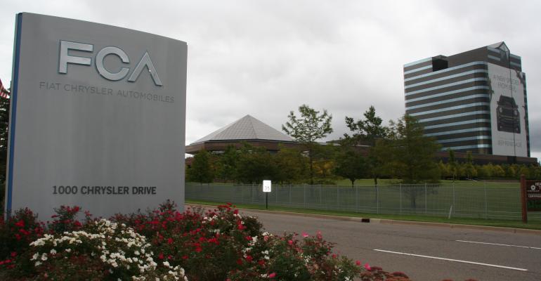 FCA sign at HQS