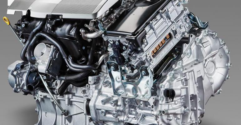 prius engine  close up