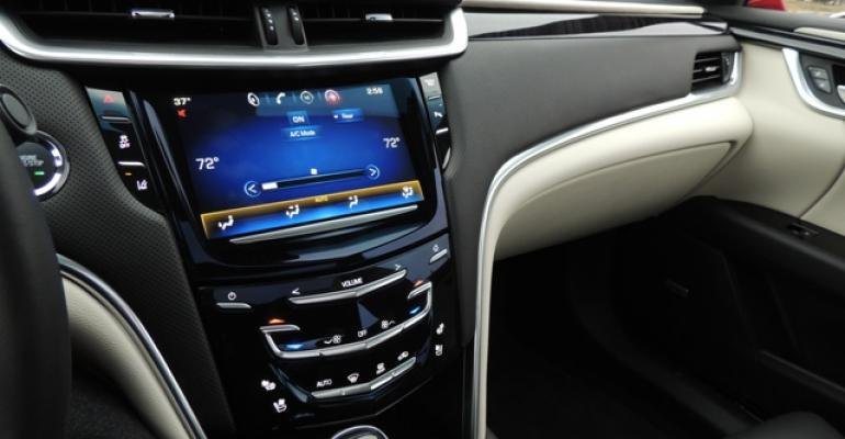 Bold design rich materials and advanced technology define Cadillac XTS interior