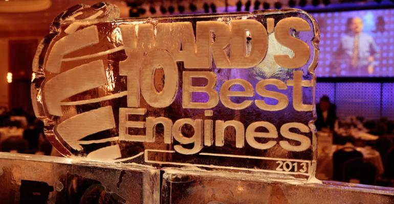 Ice sculpture honoring 10 Best Engines 19year tradition