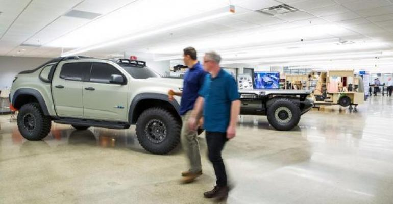 GM Innovation Group's forward-looking ideas, including the automaker's military FCV, result of cross-collaboration across organization.