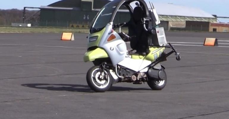 Riderless motorcycle allows autonomous vehicle testing without ER visits.