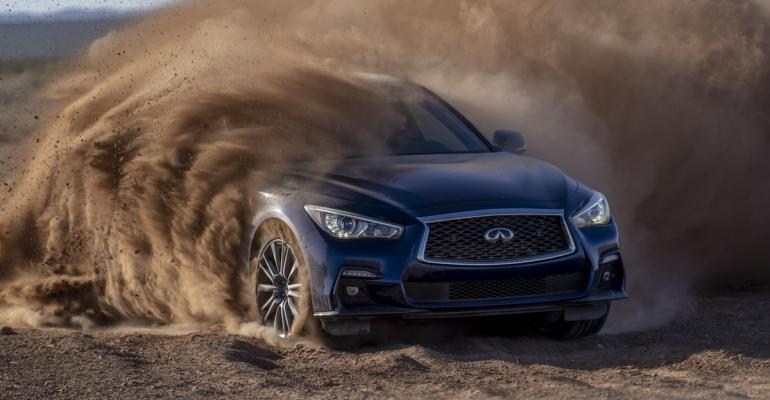 infiniti Q50 Red Sport 400 gets down and dirty.jpg