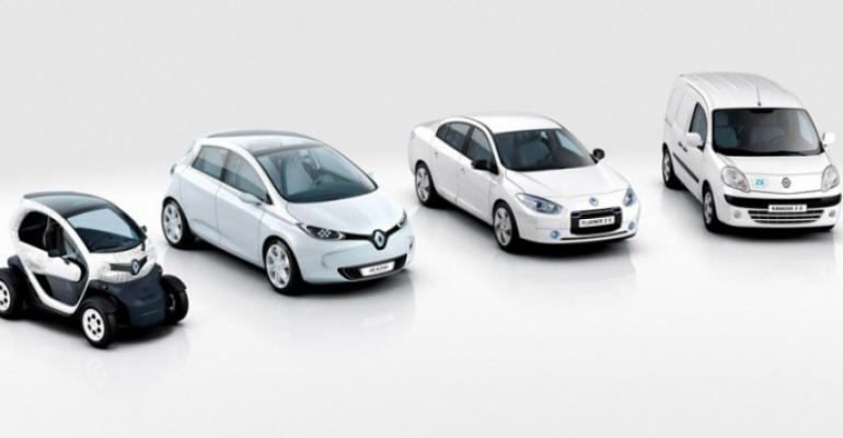 Renault electric vehicles' used batteries to get second life feeding grid.