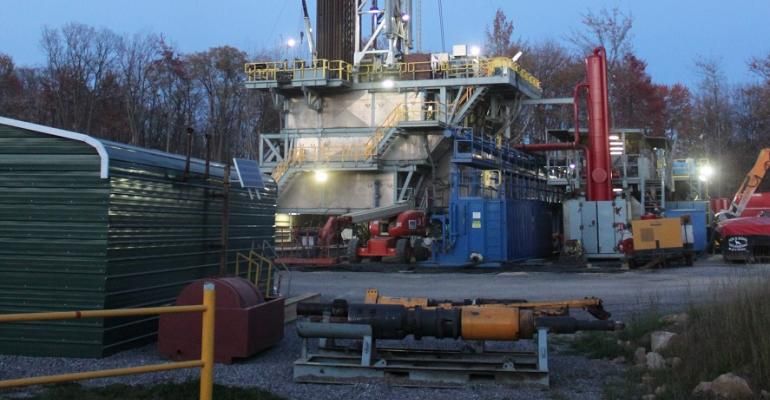 shale rig in Roulette, Pennsylvania
