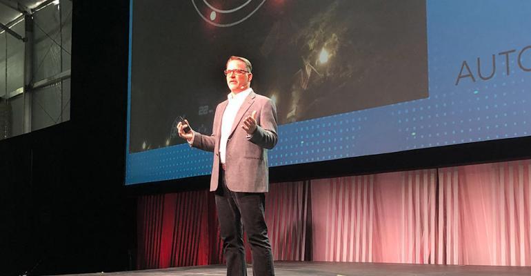 Honda's Ted Klaus addresses AutoMobility LA.