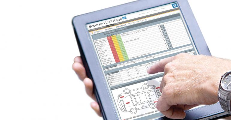Superservice guides technician through multipoint inspection process