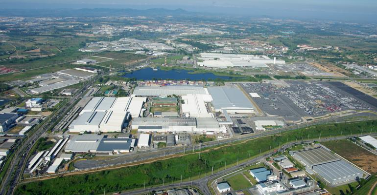 Auto plants in Thailand include FordMazda AutoAlliance center and GM behind it