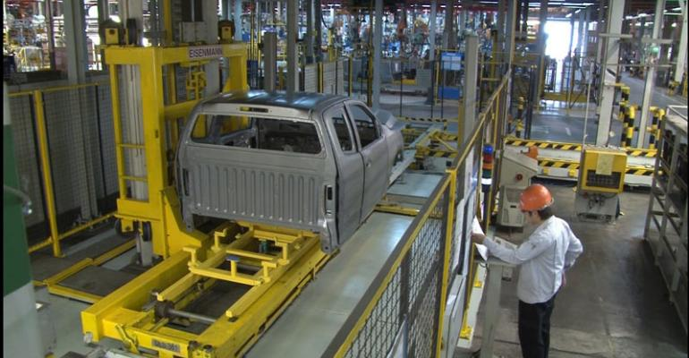 Colorado pickup being assembled at GMrsquos Thailand plant
