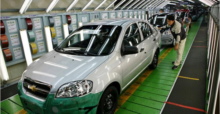 Workers at all five South Korean auto makers including GM Korea ratify new labor deals by September 2012