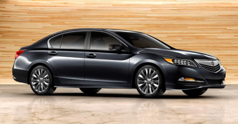 production acura rlx unveiled in los angeles wardsauto
