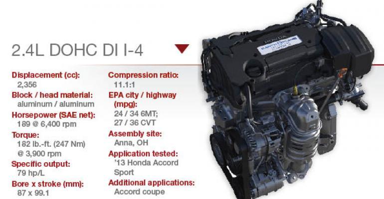 Honda 2.4L DOHC I-4   WardsAuto