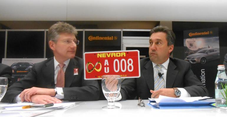 Continental execs say they are first supplier to have autonomouscar license plate in Nevada